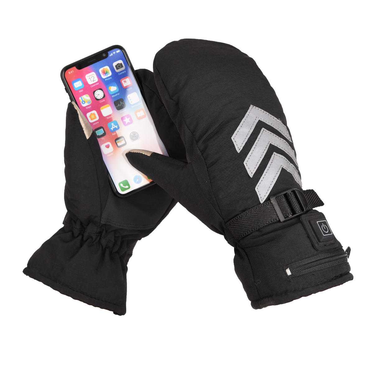 7.4V Electric Heated Warm Gloves Touch Screen Three-speed Adjustable Temperature Motorcycle Racing Waterproof Reflective