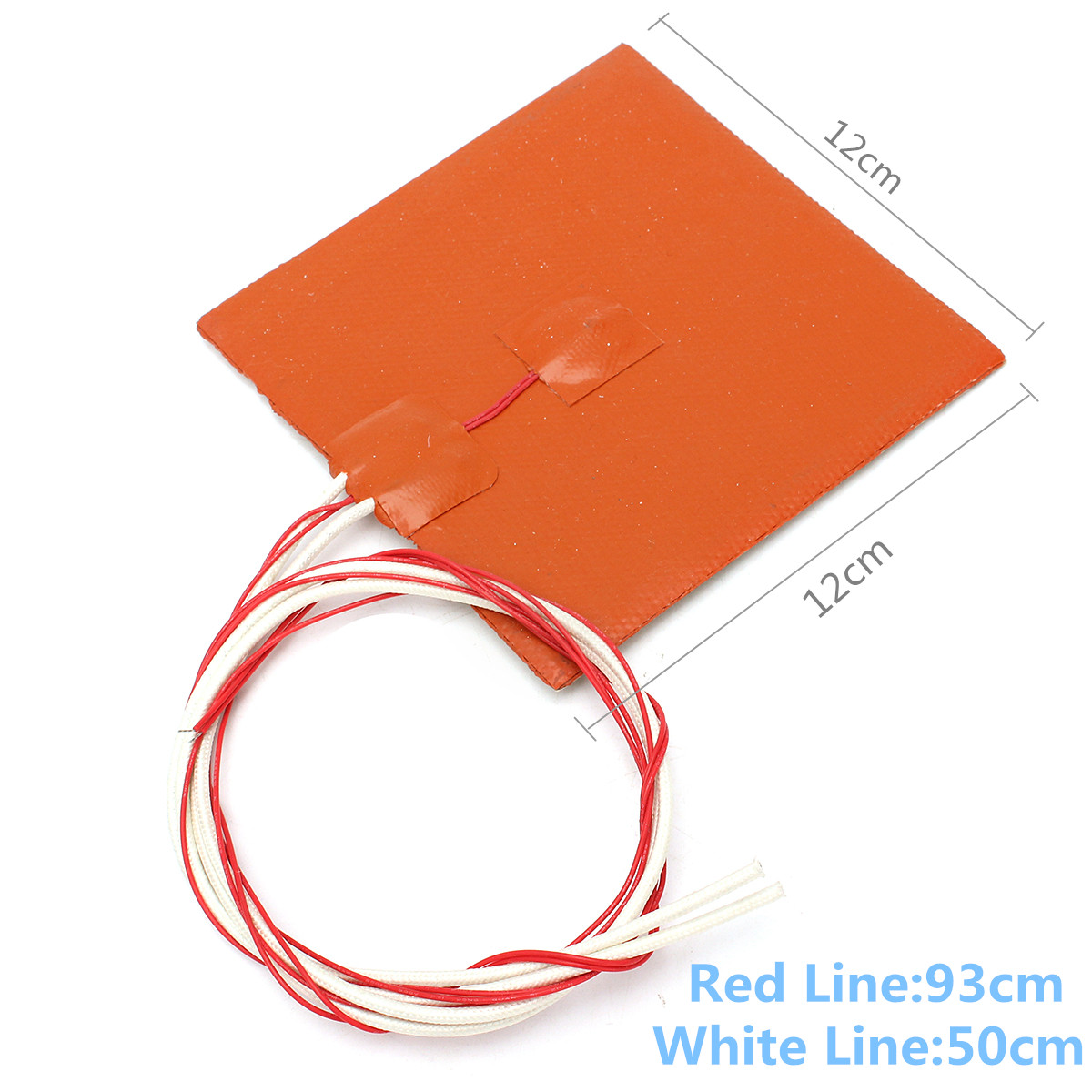 120x120mm 12V 120W Silicone Heater Pad 3D Printer Heated Bed Heating Mat