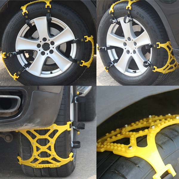 6pcs 165-265 mm Tire Anti Skid Snow Belt Set Snow Shovel Working Gloves for Car SUV Truck