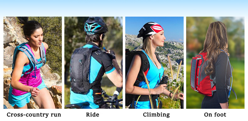 AONIJIE 1.5L-3L Foldable Drinking Water Bag Sports Running Cycling Climbing Camping Hiking Bottle