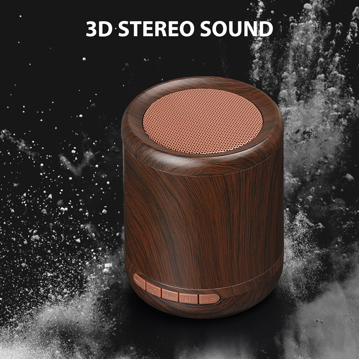 Mini Portable Wireless bluetooth Speaker Wooden 3D Stereo TF Card Hands Free Aux-in Subwoofer