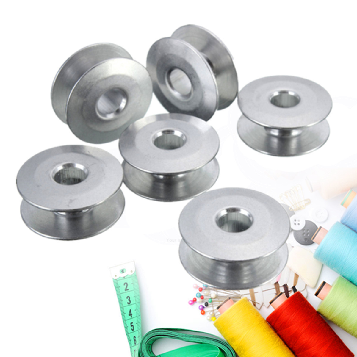 Aluminum Industrial Sewing Machine Bobbins Fit Singer Brother Tools for Single Needle Flat Machine