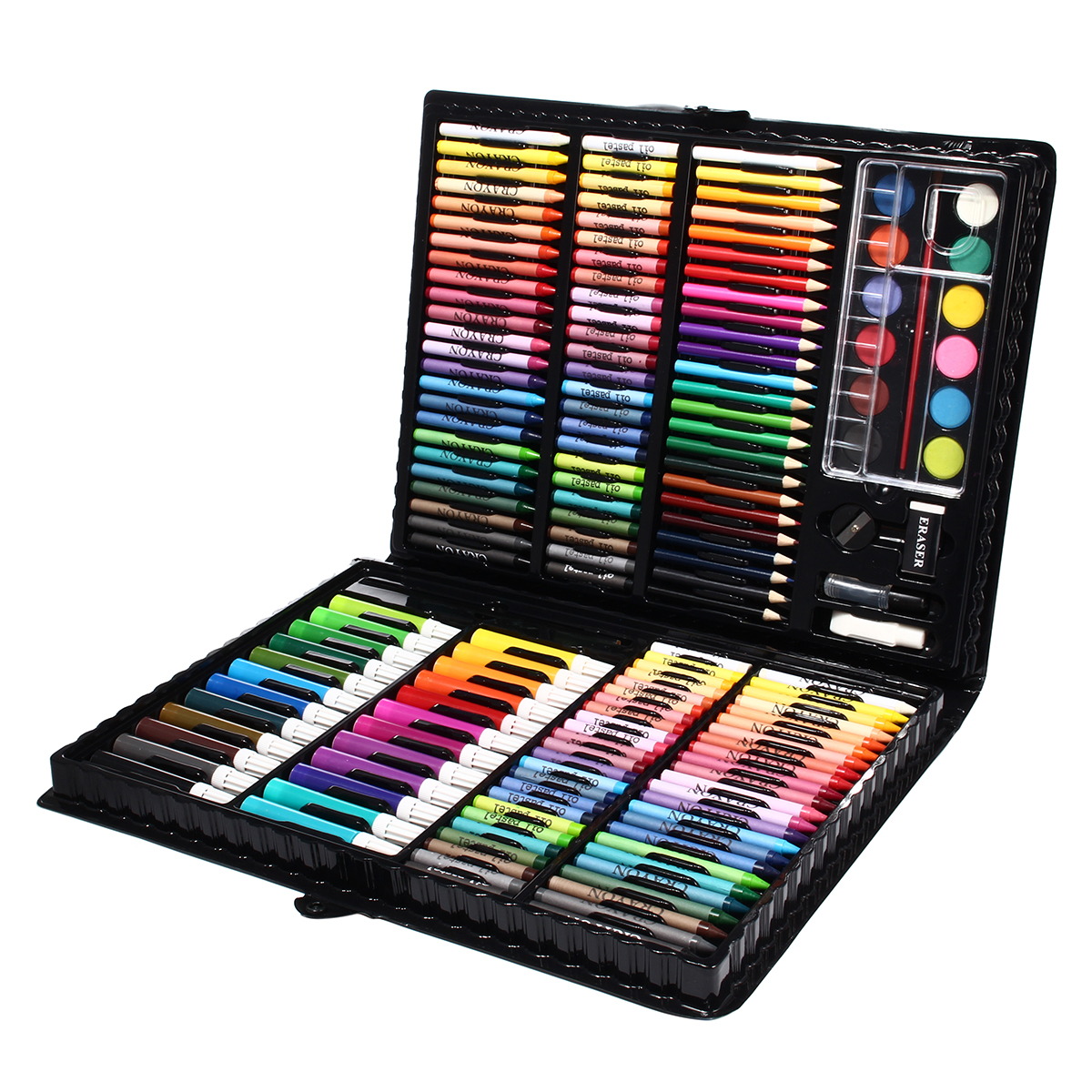 168Pcs Drawing Art Marker Pen Painting Sketching Color Pencils Crayon Oil Pastel Water Color Pen