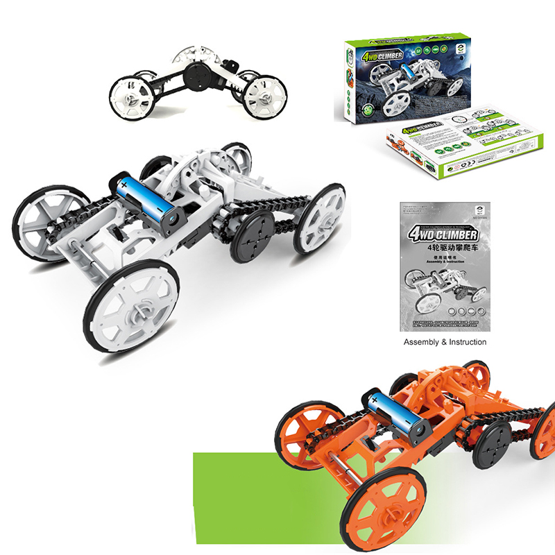 SUBOTECH DIY 005 Four Wheel Drive Climbling Car Robot Model Toys For Kids Educational Puzzle