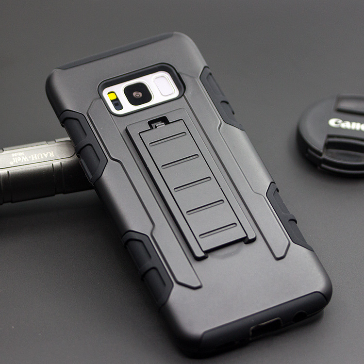 Bakeey™ 3 in 1 Armor Belt Clip kickstand Holder Soft TPU+Hard PC Case for Samsung Galaxy S8