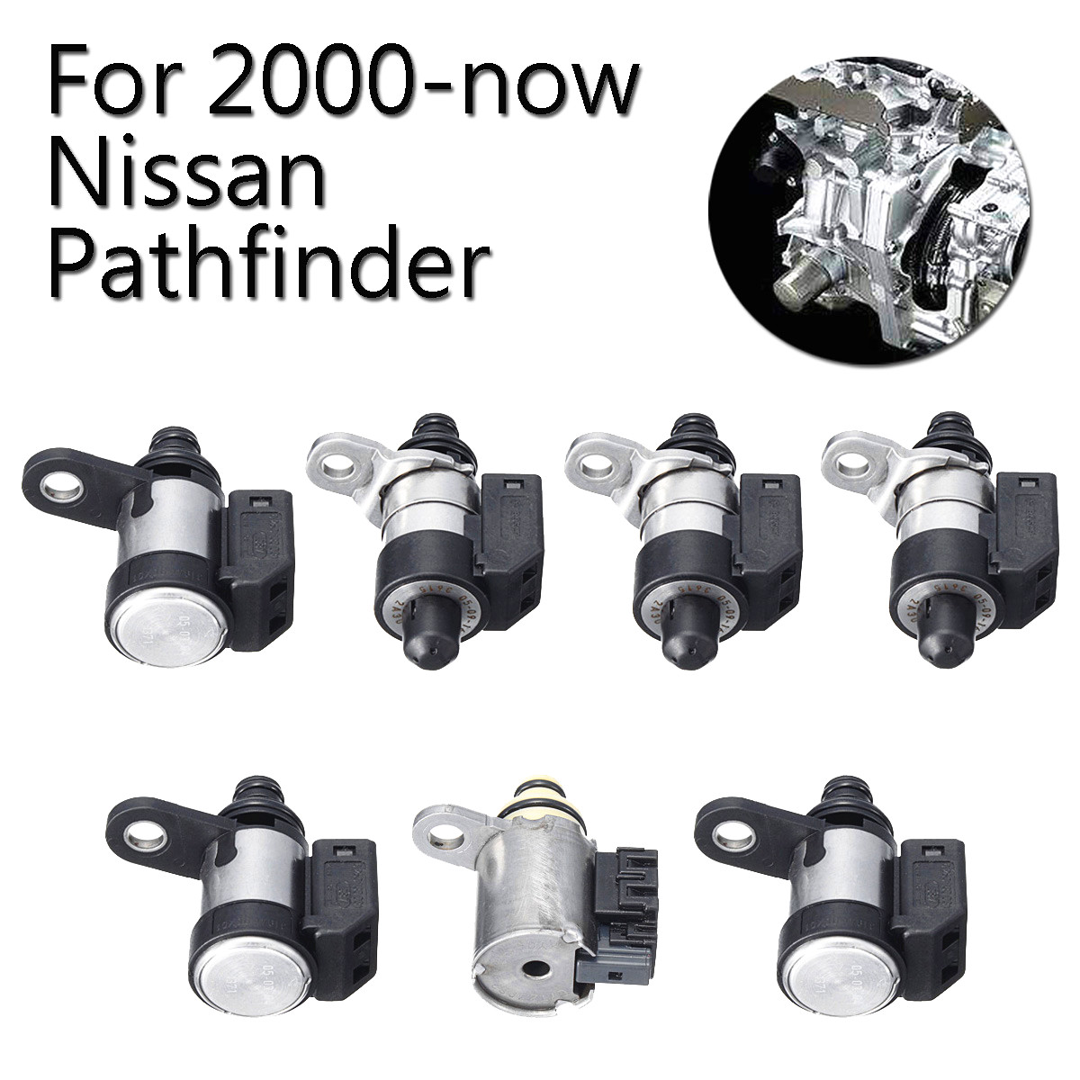 7PCS Transmission Solenoid Kit For 2000-now Nissan Pathfinder