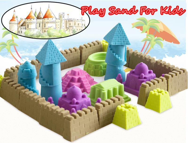 1000G Colorful Play Sand Kid Child DIY Indoor Play Craft Non Toxic Clay Toy