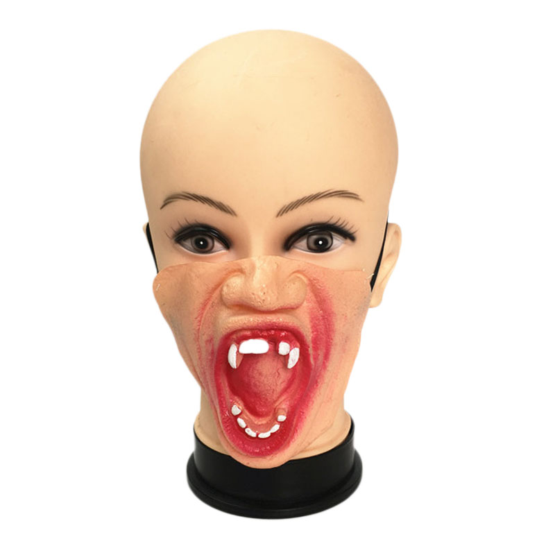 Halloween Horror Funny Performance Dress Up Half Face Mask Exaggerated Expression