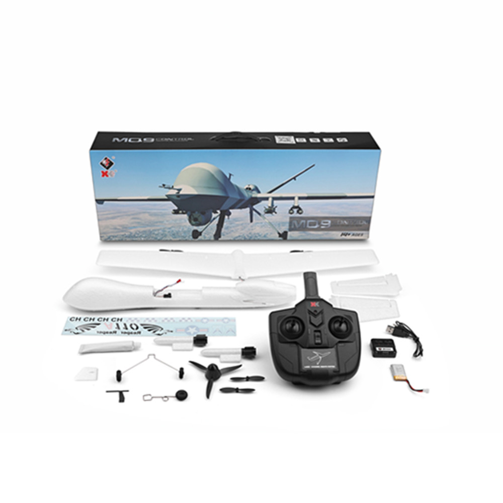 XK A110 Predator MQ-9 EPP 565mm Wingspan 2.4G 3CH DIY Glider RC Airplane RTF Built-in Gyro