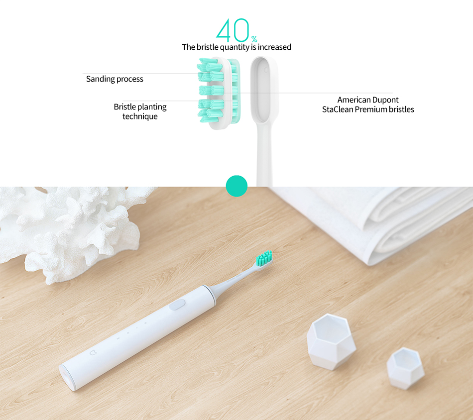 [INTERNATIONAL VERSION] Mijia Sonic Smart Electric Toothbrush with bluetooth Linkage Wireless Charging IPX7 Waterproof APP Control from Xiaomi Youpin