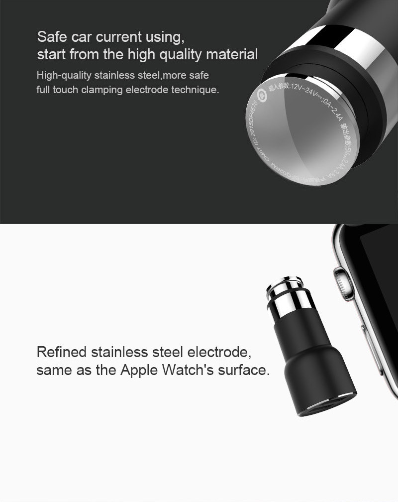 Original Xiaomi ROIDMI 2S Dual USB 3.8A bluetooth 4.2 Hands-free Calls Car Charger (CHINESE VERSION)