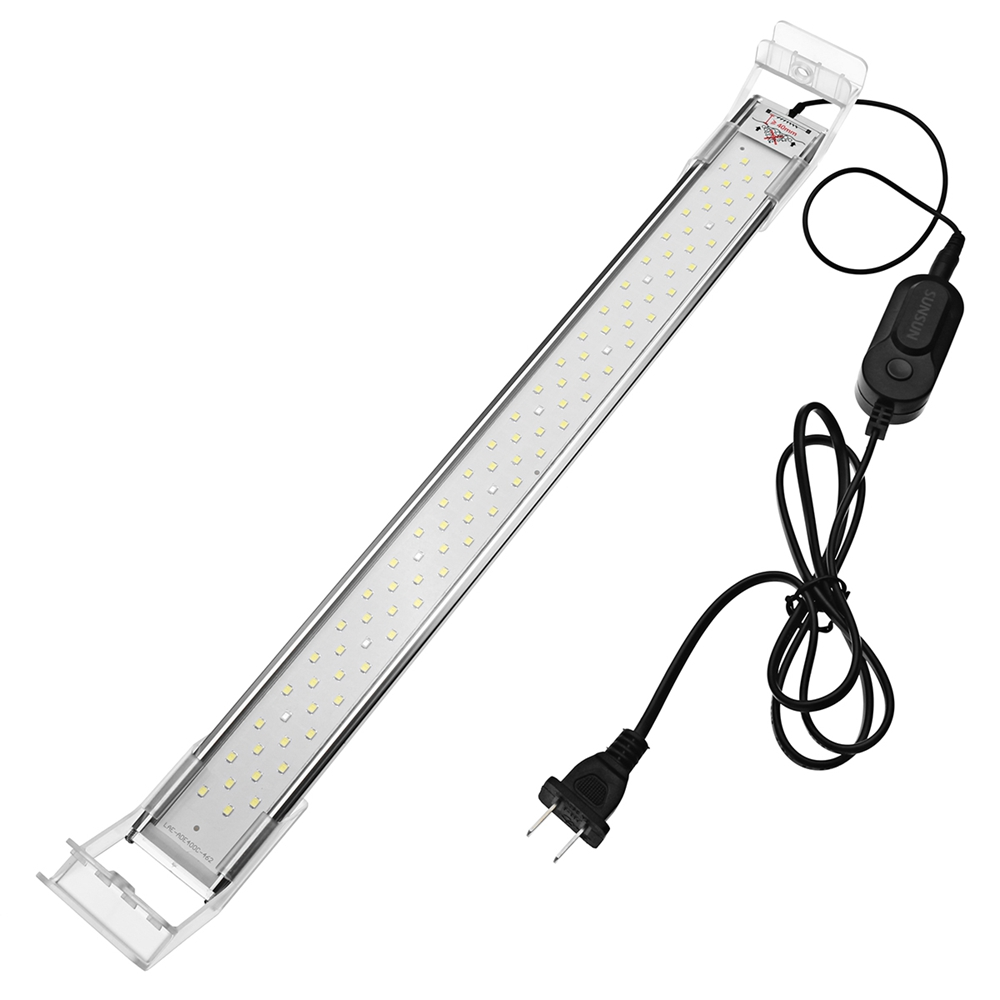 40cm 13W LED Aquarium Fish Tank Light Panel Blue White Lamp AC220V