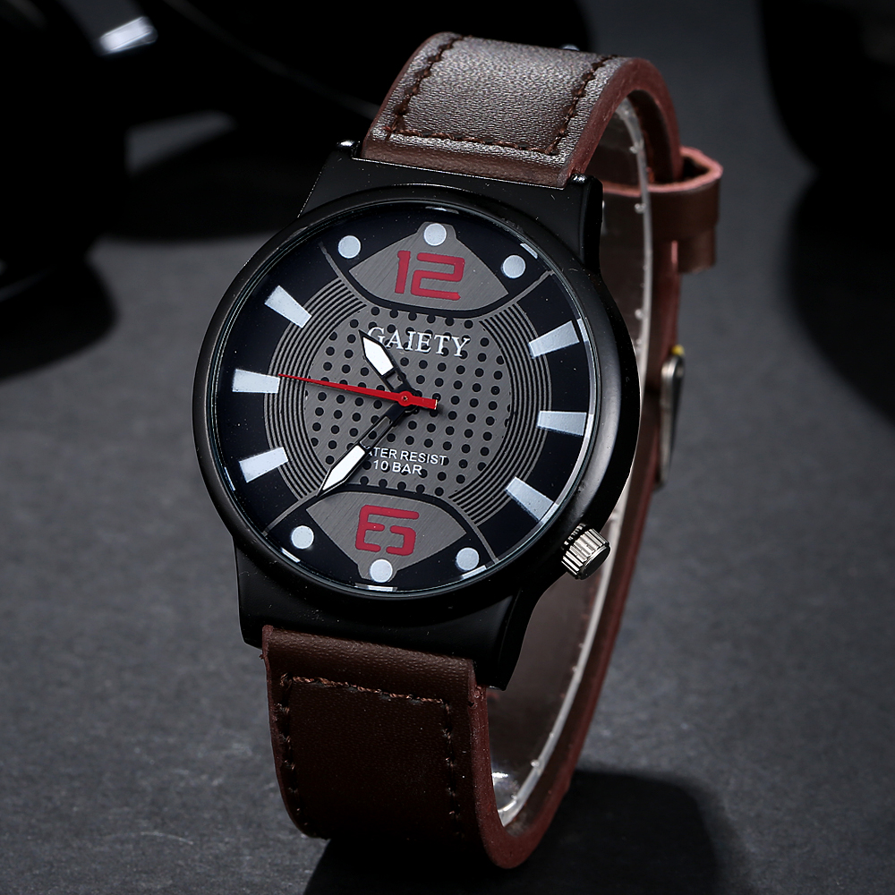 Casual Style Business Luxury Leather Strap Men Wrist Watch