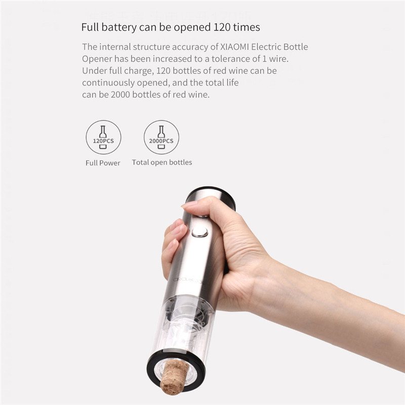 XIAOMI CIRCLE JOY 4-in-1 Wine Electric Opener Gift Set Wine Stopper Wine Decanter Tin Foil Cutter