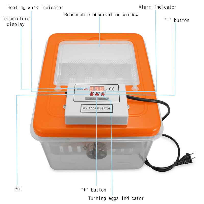 16 Position Electronic Digital Incubator Automatic Turning Hatcher for Poultry Eggs Chicken Duck Egg