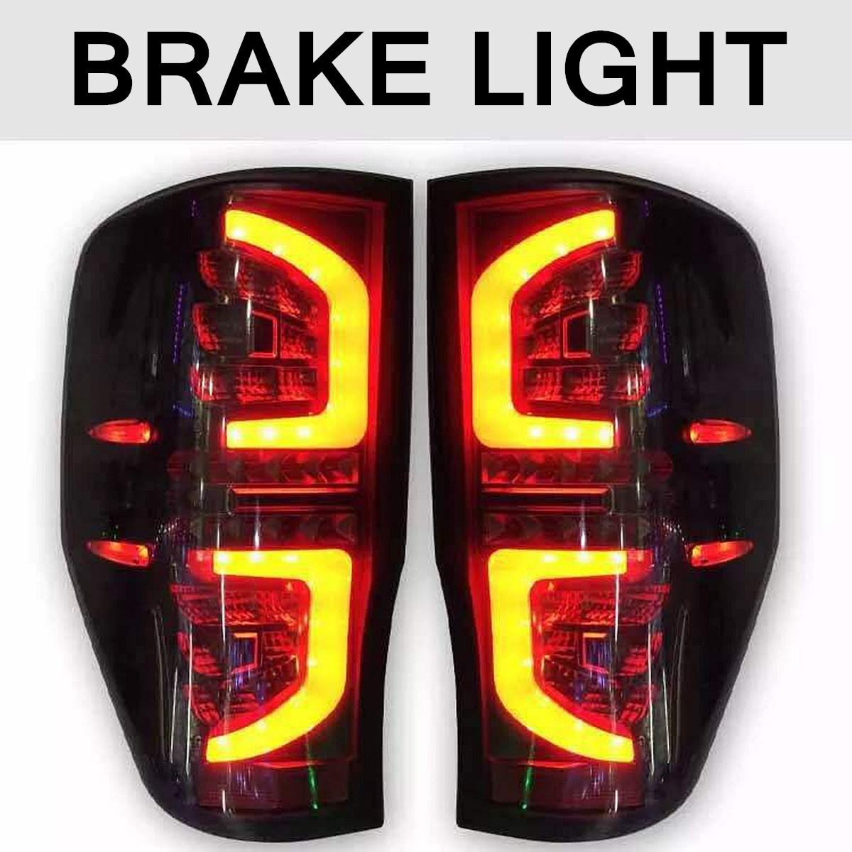 Pair Smoked LED Car Rear Tail Light Lamps for Ford Ranger PX T6 MK2 XL XLT XLS Wildtrak AT