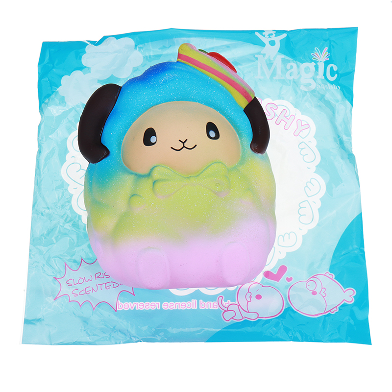 Squishy Oversized 20cm Strawberry Sheep Slow Rising Jumbo Rainbow Galaxy Color Toy Gift Collection