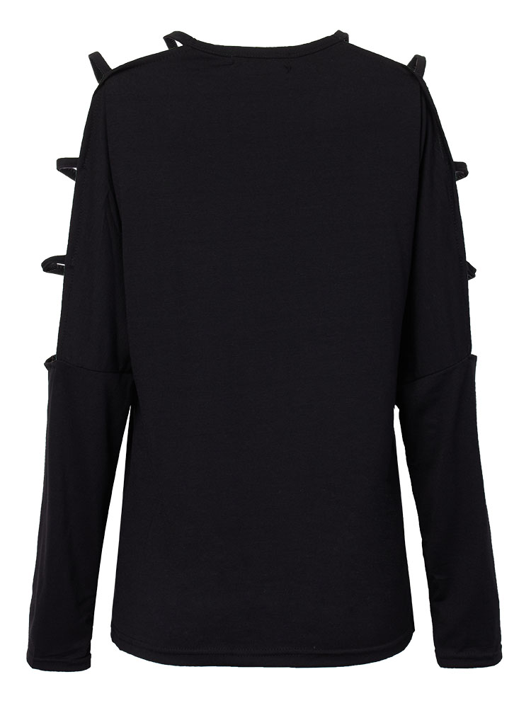 Casual Sexy Cut Out Long Sleeve T-Shirt For Women