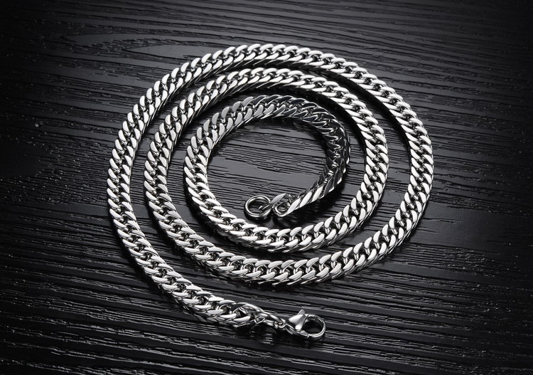 50cm×3mm Fashion Men Stainless Steel Single Chain Necklace