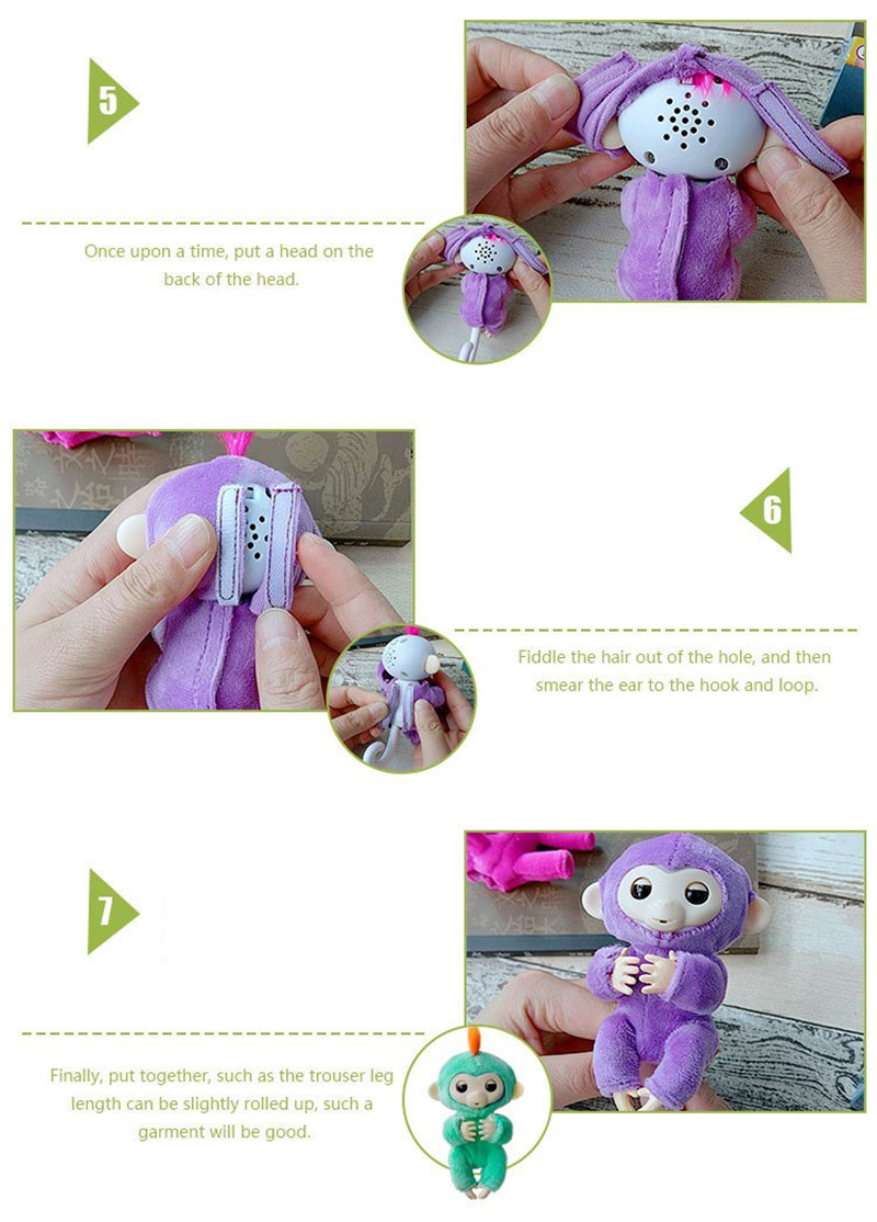 Wearable Handmade Finger Monkey Warm Plush Coat ClothesSoft Outfits Costumes For Finger Animal Toy