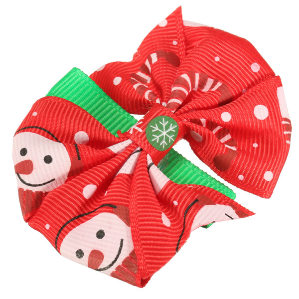 Lovely Girls Baby Christmas Hairpins Bowknot Hair Clips Xmas Accessories 6 Different Patterns