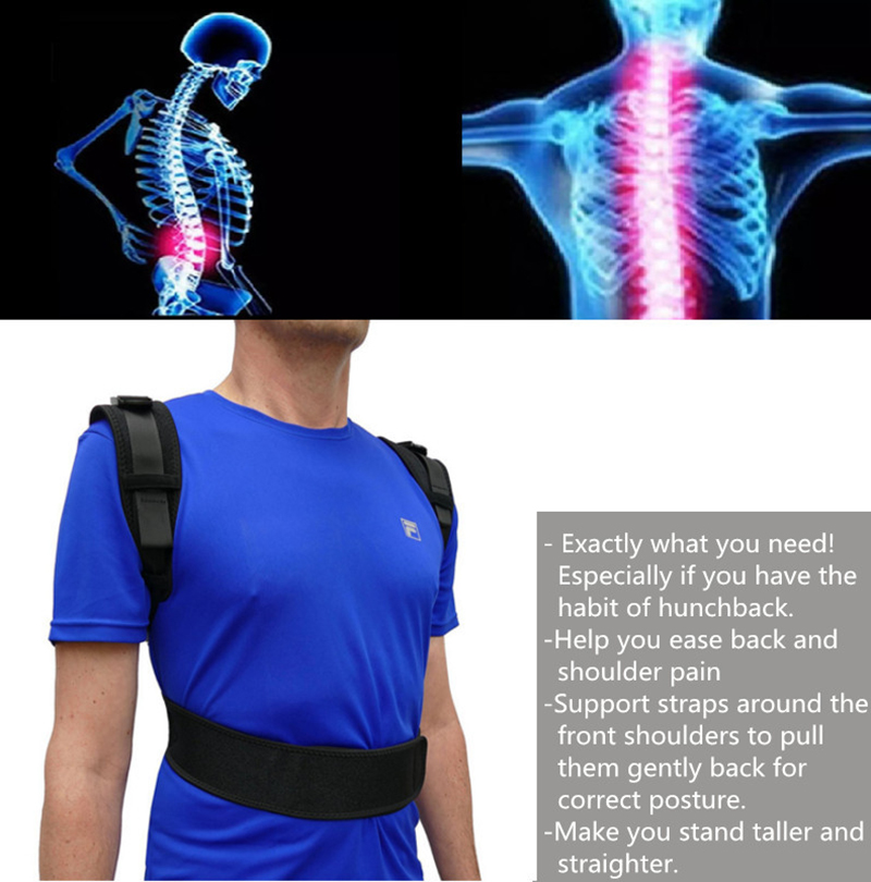 Back Posture Corrector Adjustable Protection Back Shoulder Posture Pain Relief Back Support