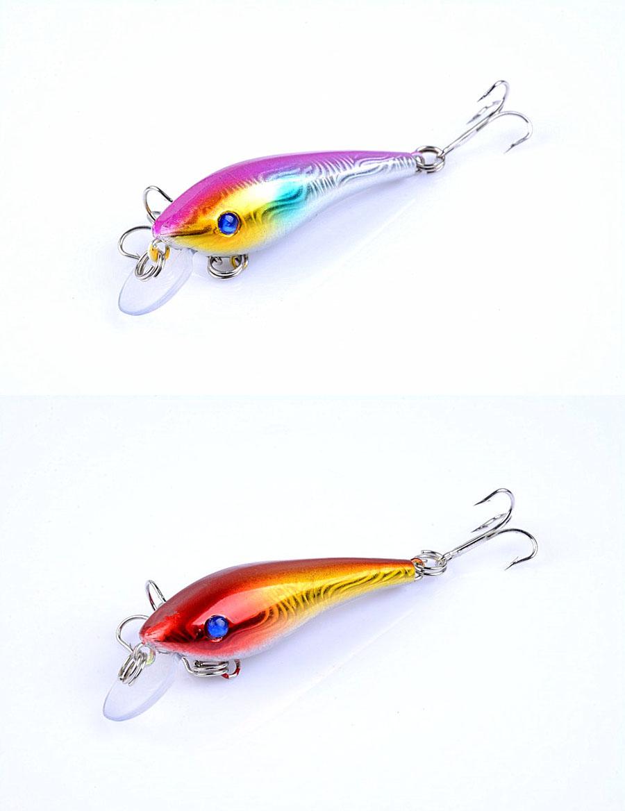 ZANLURE 10pcs/set 5.7cm 4.4g Minnow Fishing Lure 0.3m--1.2m Depth Artificial Hard Bait Wobbler Carp