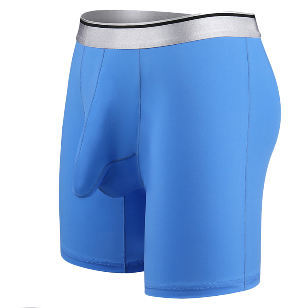 Men Sexy Underwear Ice Silk Big Size Breathable Sport Boxers