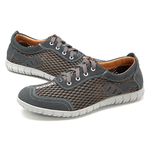 US Size 6.5-12 Men Breathable Outdoor Lace Up Casual Mesh Sneakers