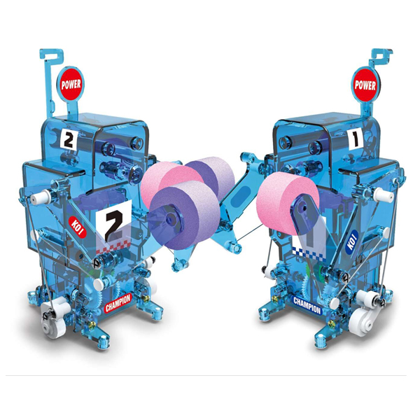 DIY004 Self-assembled Boxing Fighter Remote Control Robot For Kids Gift Toy