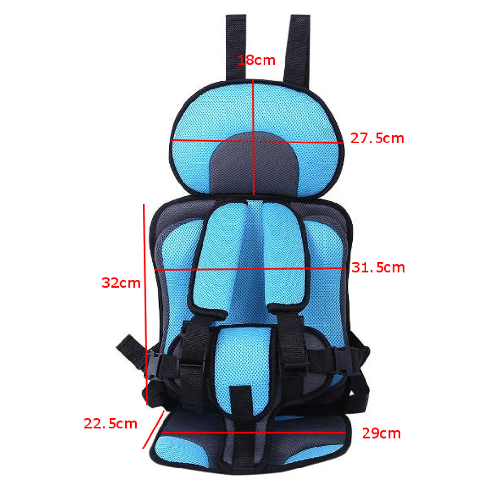 Adjustable Portable Simple Car Baby Child Safety Seat 0-12 Year Old Thickening Sponge Car Seat