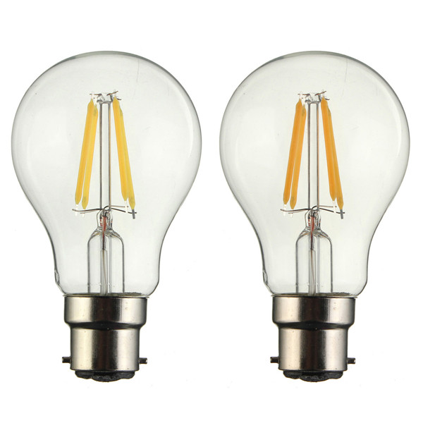 B22 A60 4W LED COB Filament Bulb Eison Vintage Clear Glass Lamp Non- Dimmable AC 220V