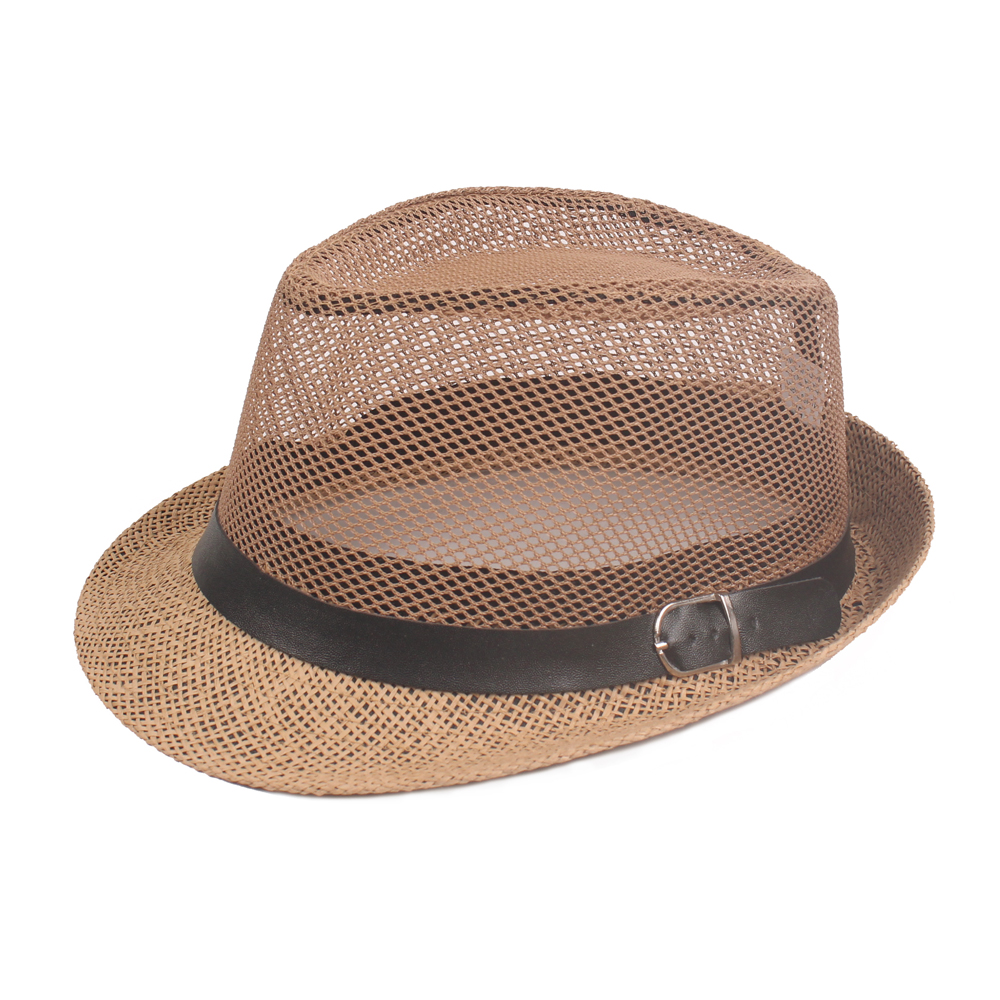 Men Summer Breathable Mesh Jazz Hat Sunshade Middle-Aged
