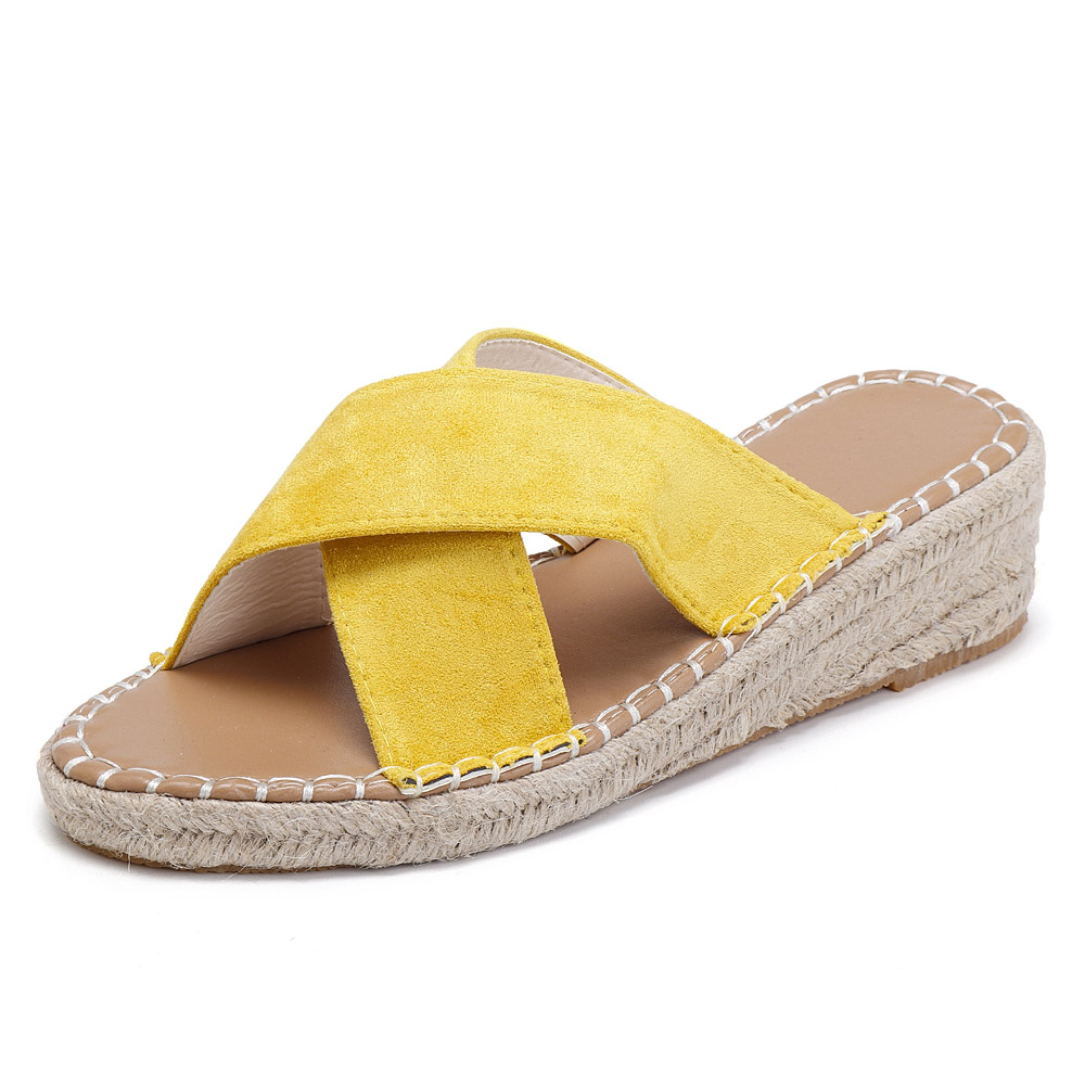 1962a30ba87 Slippers - Wedge Women Shoes Cross Suede Casual Slippers was listed ...