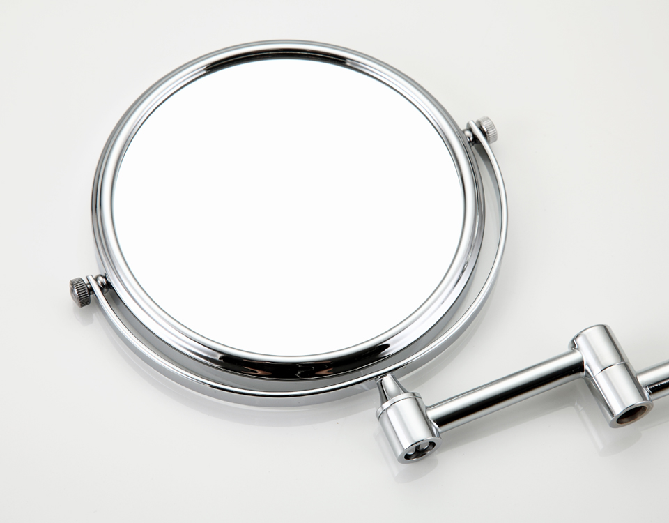 FRAP F6106 and F6108 Wall Mounted Chrome Finished Bathroom Accessories Double Sided Mirrors Adjustable Distance Rotation Polished