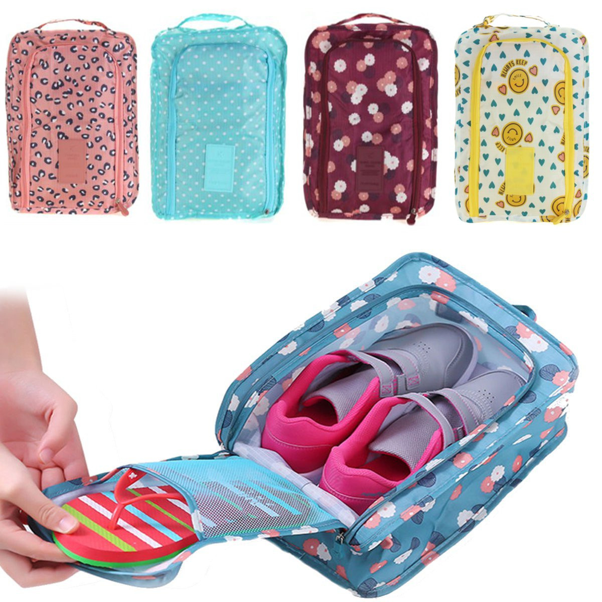 Waterproof Travel Tote Shoes Storage Bag Cloths Zip Case Cover Organizer