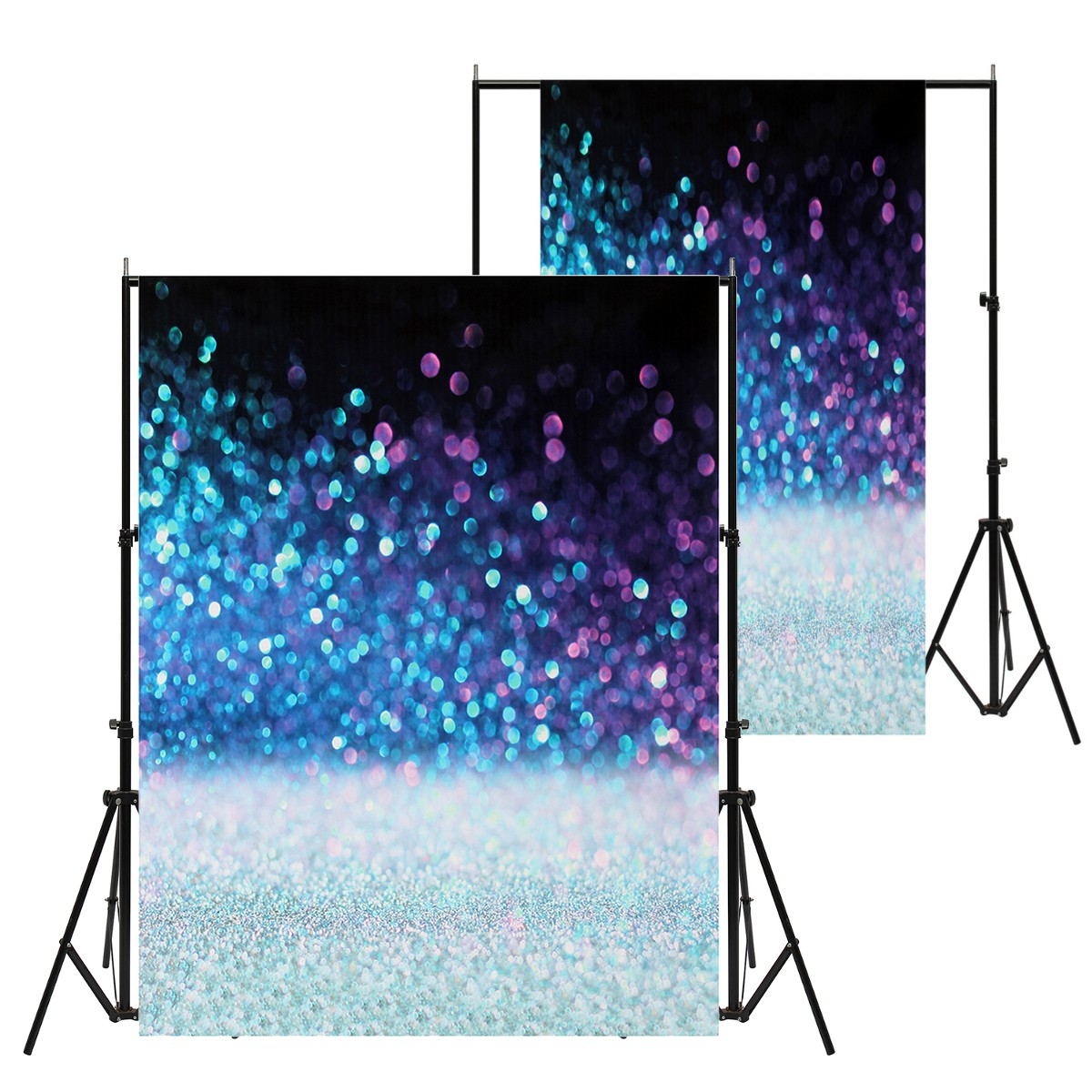 Charming Starry Star Blue Night Silk Photography Background Studio Photo Props Backdrop Wall Art