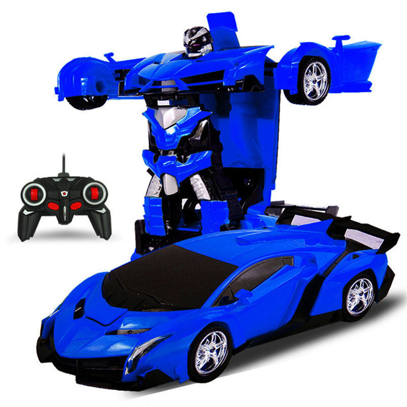 2 In 1 Rc Car Sports Wireless Transformation Robot Models Deformation Fighting Toys - Photo: 2