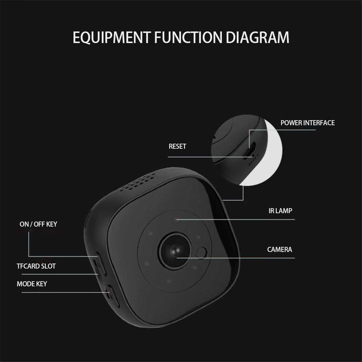 H9 Automatic Non-light Night Vision 1080P Magnetic Wearable Movement Monitor Mini Hunting Sports Camera