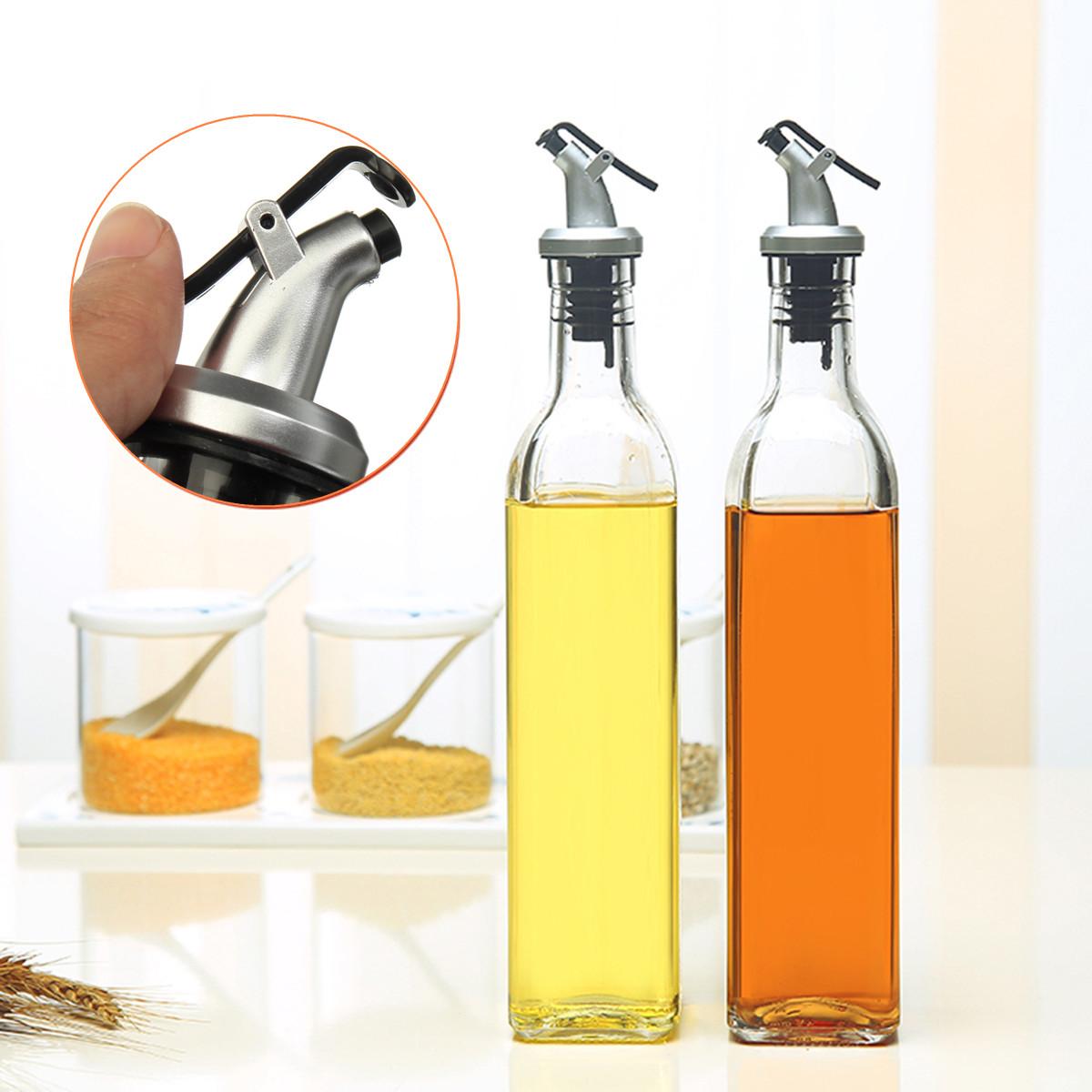 500ml 18oz Glass Olive Oil And Vinegar Dispenser Pourer Bottle Filler Kitchen Cooking Tools