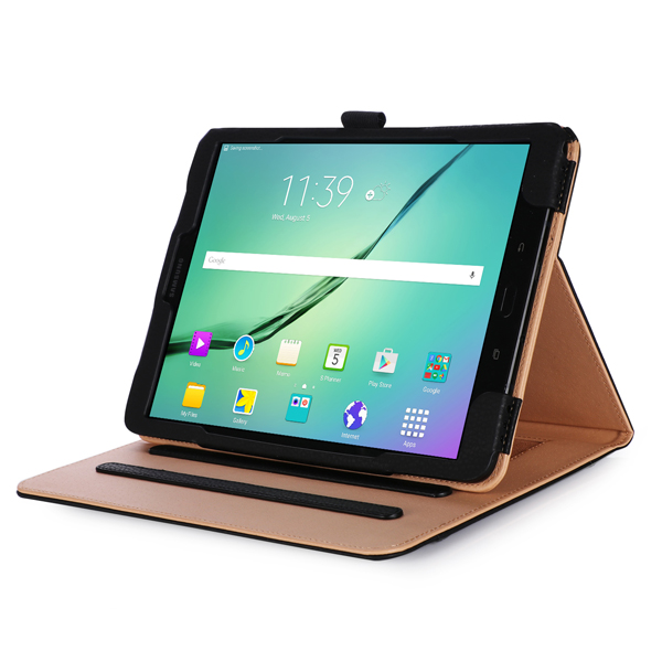 Multi Angle Folio PU Leather Handheld Smart Case Cover for 9.7 Inch Samsung Galaxy Tab S3 Tablet