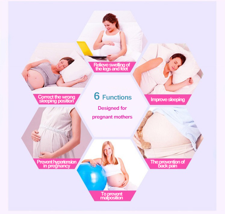 Honana WX-8396 Comfortable Pregnancy U Tyle Body Pillow Cushion For Women Best For Side Sleepers Removable