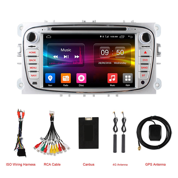 Ownice C500 OL-7296F HD 7Inch 4G Wifi Car MP5 Player Android 6.0 Quad Core TV GPS for Ford Focus