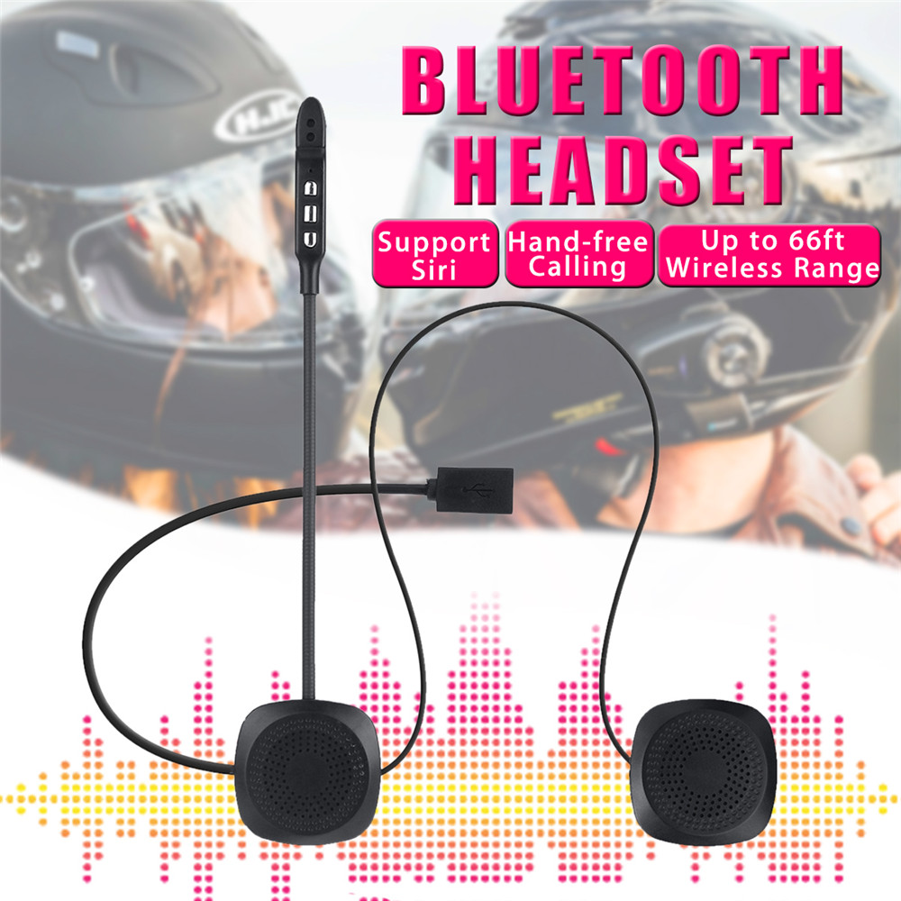 50M 110dB Wireless Motorcycle Helmet Headset With bluetooth Function Hands Free Intercom