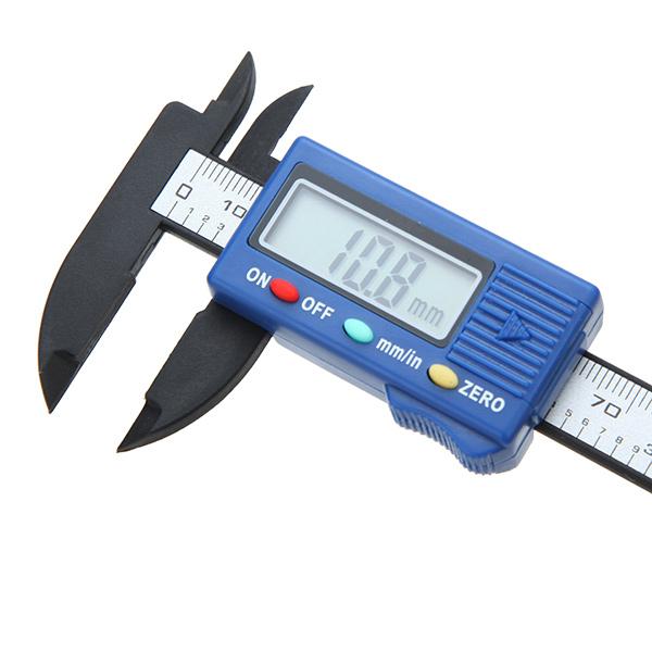 DANIU 100mm High Precision Carbon Fiber Composites Digital Vernier Caliper Micrometer Guage