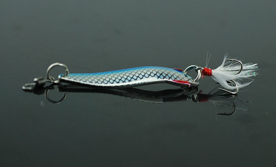 Original Abu Garcia Brand Toby Spoon Lure Blue Flash Spoon Bait 7g 10g 12g 18g Fishing Lure