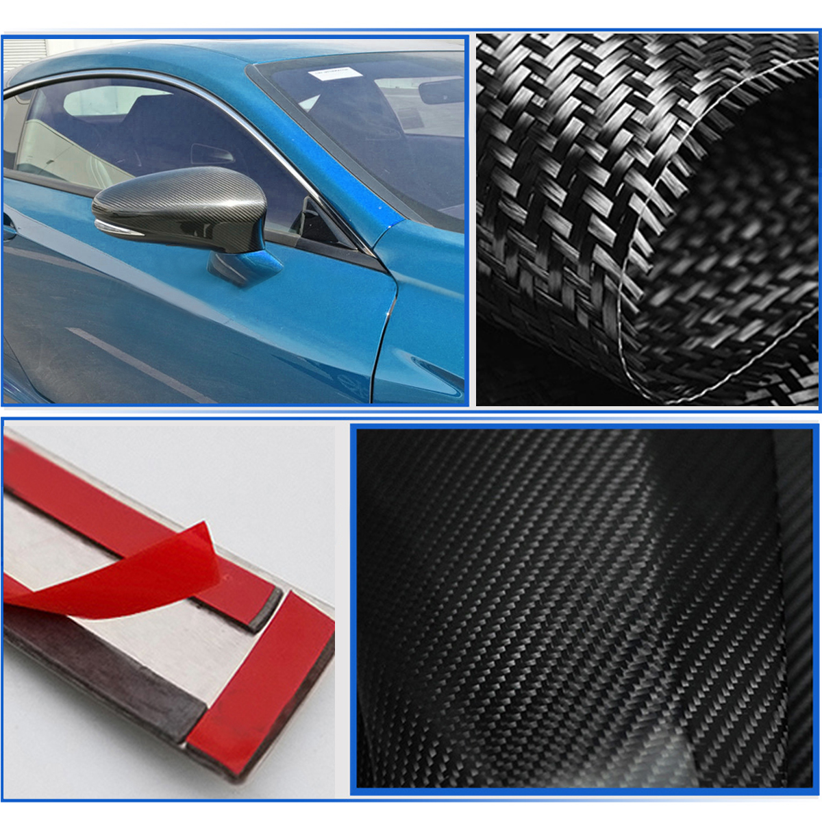 GSF Add on Carbon Fiber Side Car Mirror Cover Caps 2013 to 17 for LEXUS GS350 GS450H