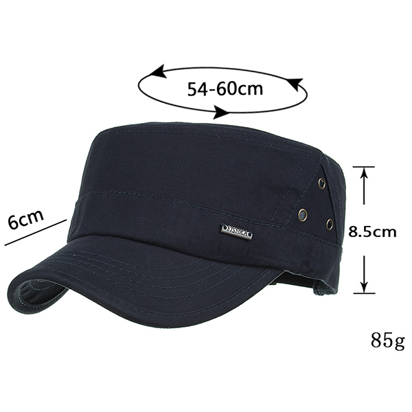 Men Summer Sunshade Cotton Breathable Military Cap