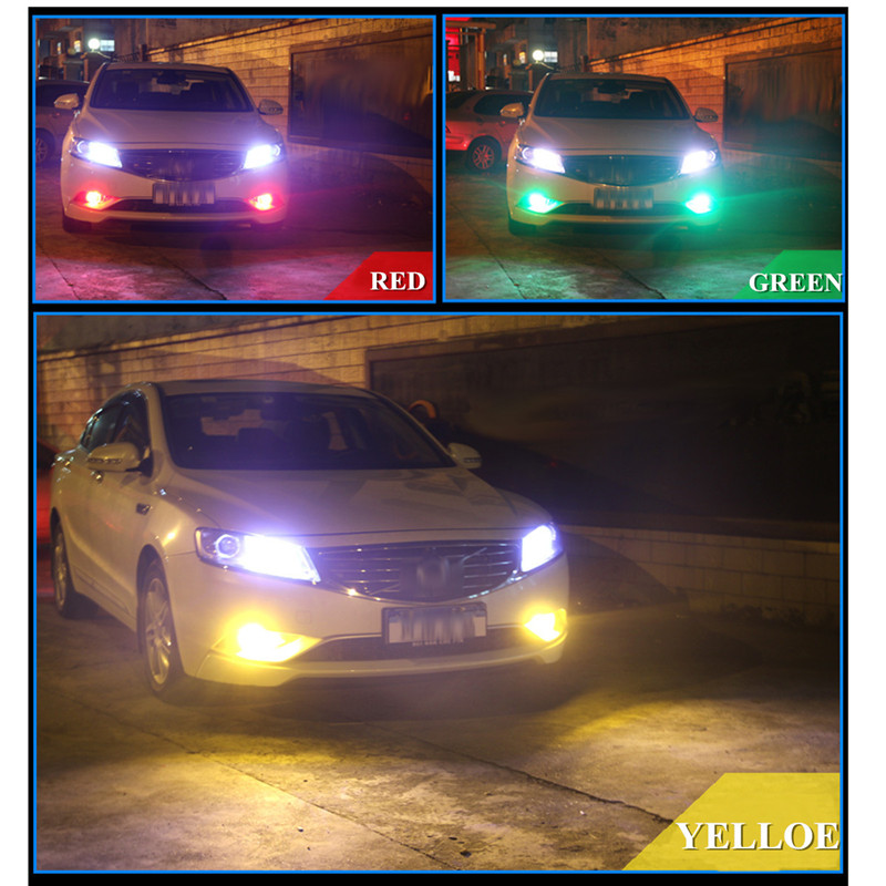 2x T10 12 SMD 5050 RGB LED Car Wedge Side Light Reading Lamp Bulb with Remote Control