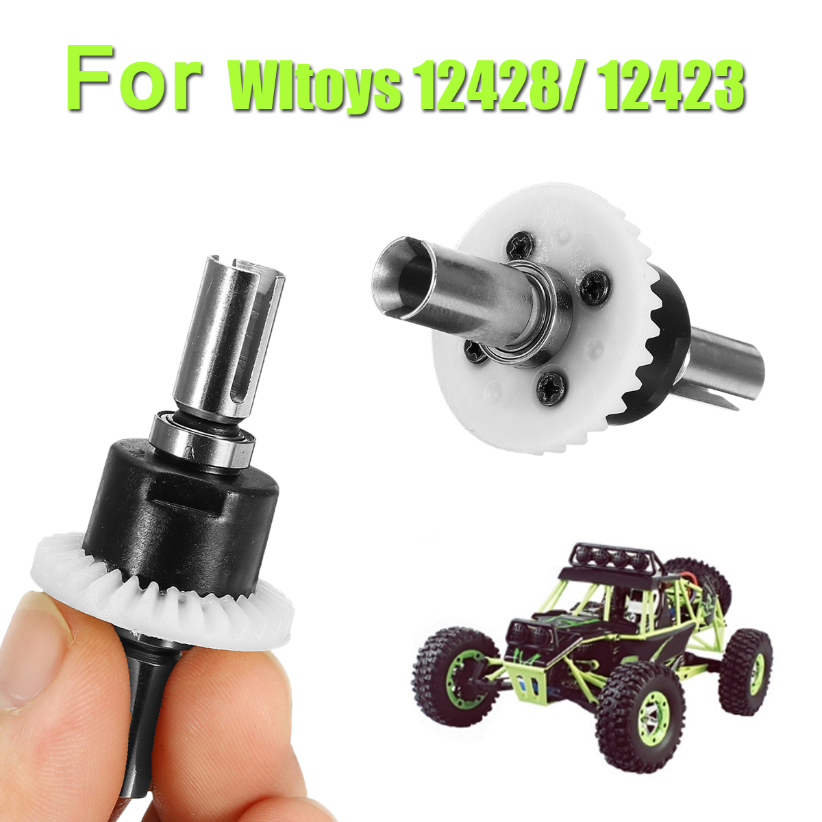 Diff Gear Front Spare Part For Wltoys 12428 12423 1/12 RC Car